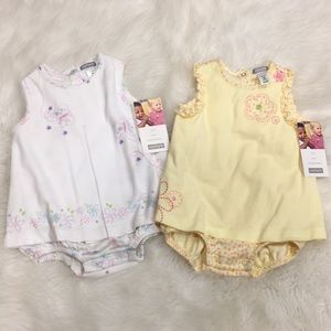 2 NWT Carters Rompers! 6 m